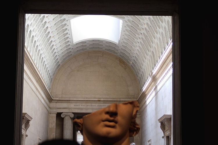 Indoors  One Person Headshot Men Young Adult Architecture Close-up EyeEmNewHere Metmuseum  Alexanderthegreat Scalpture