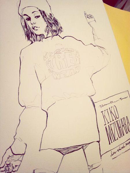 Art Drawing Portrait Kikomizuhara. in progress