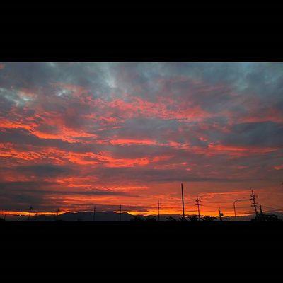 今日もおつかれさまでした。 空 Sky イマソラ ダレカニミセタイソラ Team_jp_ Japan Instagood 景色 Scenery 自然 Nature Icu_japan Ig_japan Ig_nihon Jp_gallery Japan_focus Sunsets Sunset 夕方 夕焼け