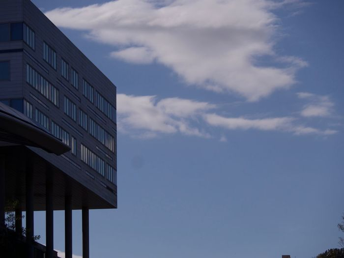 Cloud - Sky Sky Architecture Building Exterior Built Structure Low Angle View Building Nature City No People Modern Day Office Outdoors Office Building Exterior Glass - Material Reflection Business Window Blue