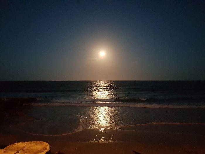 Moon Rising Sea