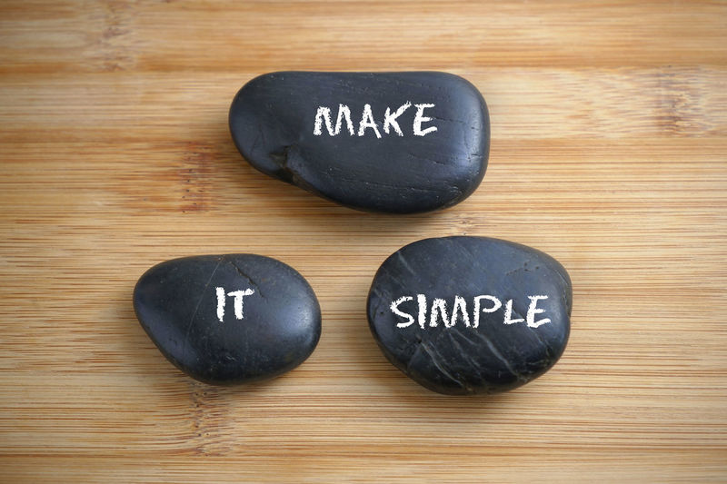 Make it simple Motivation Make It Simple Positive Thinking Positive Vibes Positive Words Success Table Text