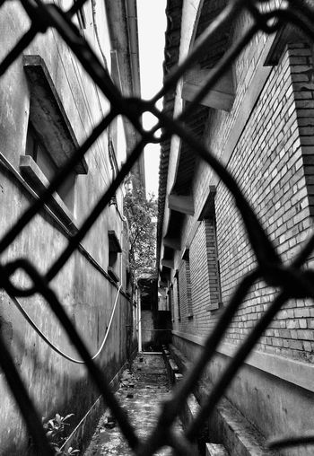 Black & White Chainlink Fence Security Fence Metal Protection Pattern Outdoors No People Close-up Chainlink Fence Security Fence Metal Protection Pattern Outdoors No People Day Close-up Sky Monologue Colours Black And White Photography Angles And Views Creative Shots The Secret Spaces