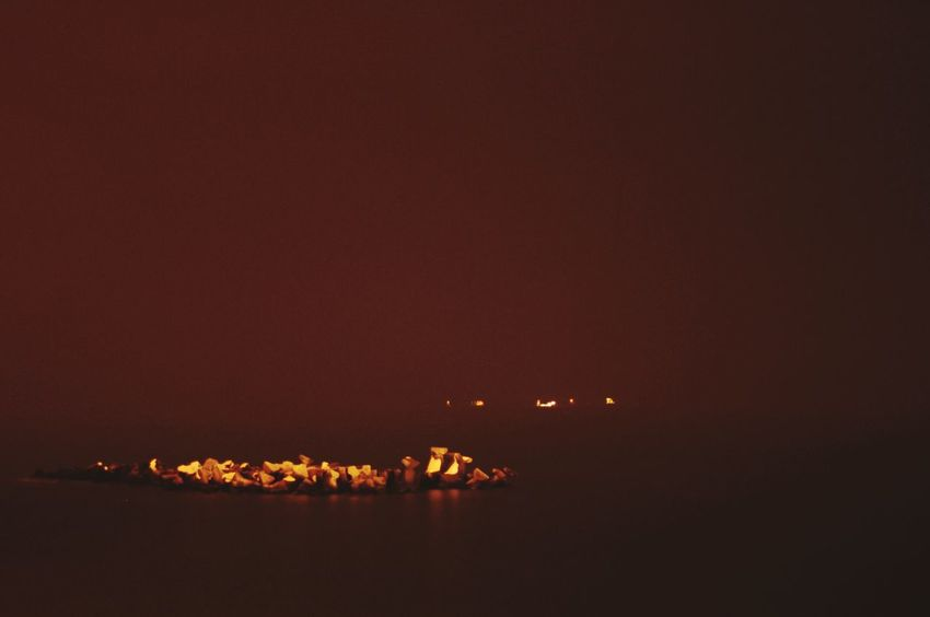 Nightphotography Sea And Sky Seascape