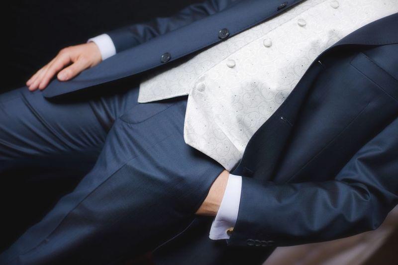 Midsection Of Man Wearing Formalwear