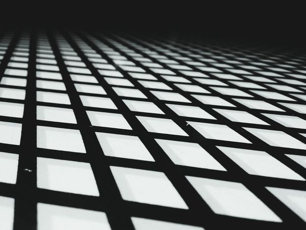 Grid Pattern Black And White Geometric Shapes