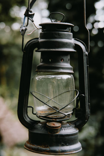Close-up of electric lamp