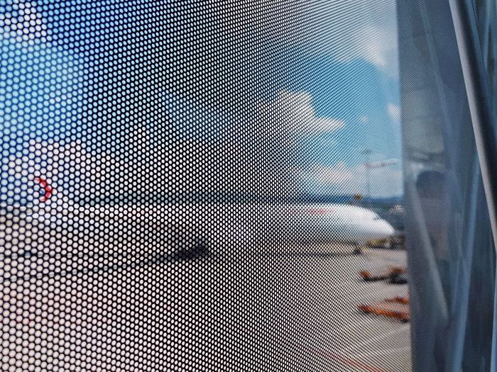 Digital composite image of car window