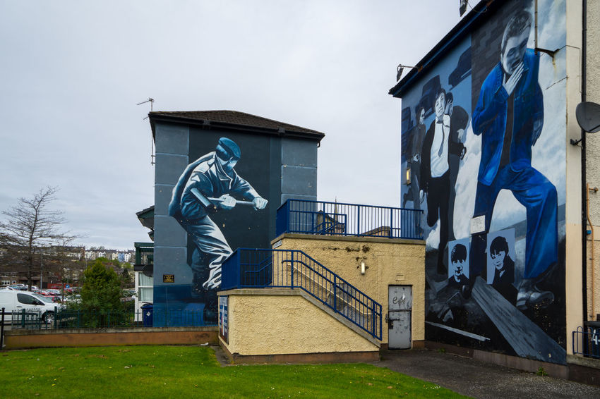 Architecture Building Exterior Built Structure Day Derry Grass Ireland Irish Londonderry Mural Mural Art No People Northern Ireland Outdoors Sky