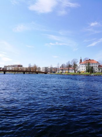 Cloud - Sky Sky Building Exterior Outdoors Sea Harbor Water Architecture No People Built Structure Cityscape Day Town Vacations Sailboat City Nature Savolinna Finland Finland Savonlinna Finland Finlande Finland Savonlinna