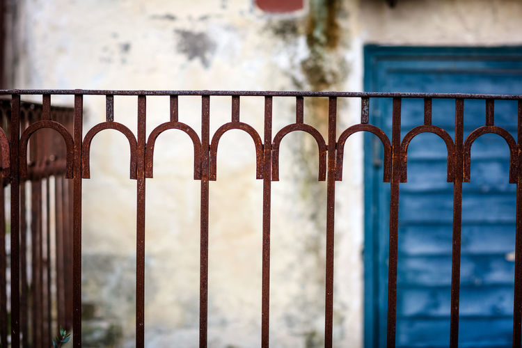 Fence Matera Matera Italy Matera2019 Matera - Capitale Della Cultura Matera View Fence Barrier Metal Security Railing Day No People Safety Outdoors Iron Rusty Built Structure