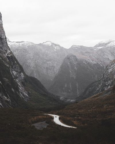 @alekstwo New Zealand Milford Sound Mountain Landscape Nature Mountain Range Beauty In Nature No People Outdoors