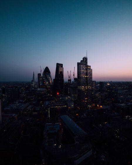 Gradient Cityscape Architecture Urban Skyline London