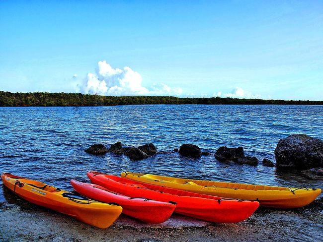 Kayak sports Sports Kayaking Sky Clouds And Sky Water Beach Sea Floating On Water Buoy Sky Cloud - Sky Pedal Boat Sandy Beach Kayak Ocean