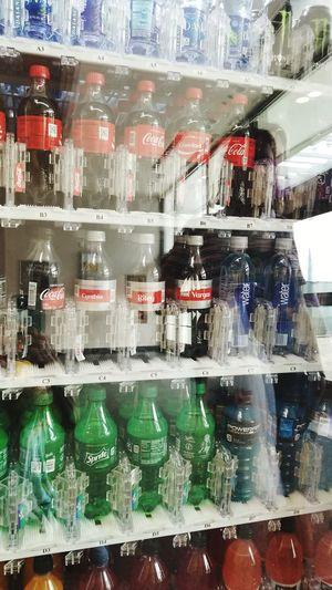 Reflection Coke Vending Machine Bottles Water