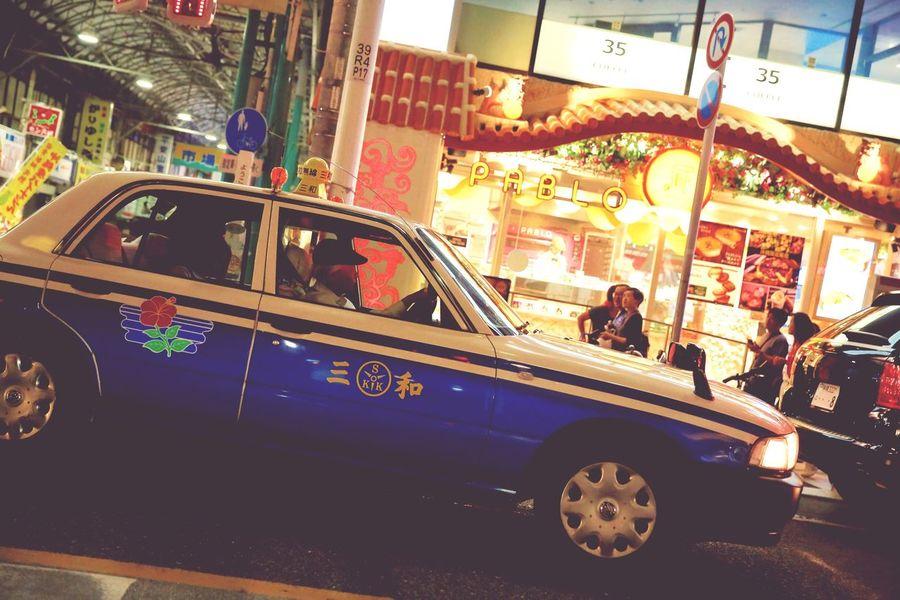 EyeEmNewHere OKINAWA, JAPAN Lifestyles Street Car Texi City Life Night Real People