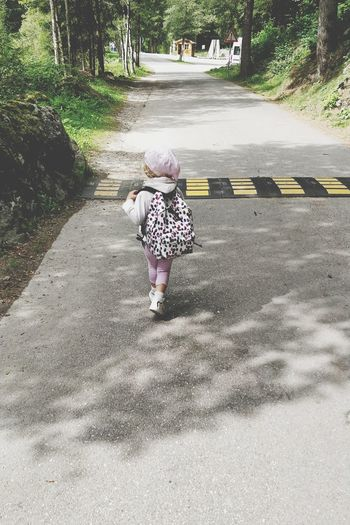 Piccoli passi. People Childhood Real People Road Outdoors Walking Day Babygirl Baby Walking One Person Trees EyeEm Nature Lover The Week On EyeEm