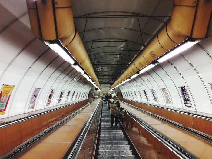 Prague Transportation Indoors  Direction The Way Forward Subway Station Illuminated Public Transportation EyeEmNewHere The Creative - 2018 EyeEm Awards