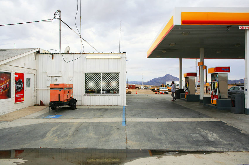 Architecture Building Exterior Built Structure Car Desert Gasoline Gasoline Pump Land Vehicle Las Vegas Mode Of Transport Oil Outdoors Road Street The Way Forward Transportation Landscapes With WhiteWall