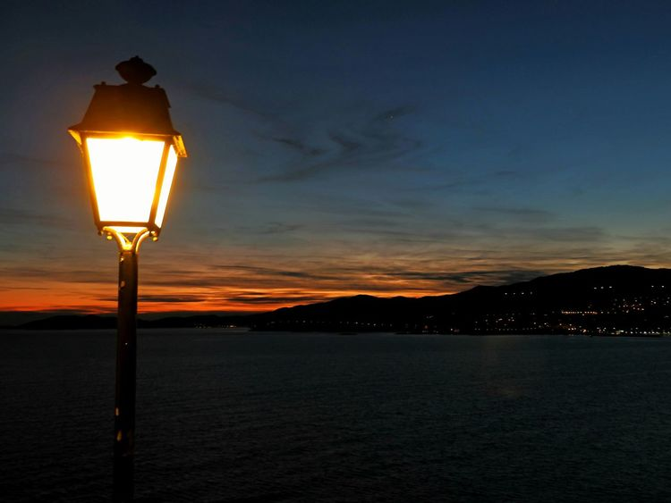 Lamp Landscape_photography Landscape City View  Twilight Sky Sky Collection Cityscapes Colorful Sky @ Kavala In Greece