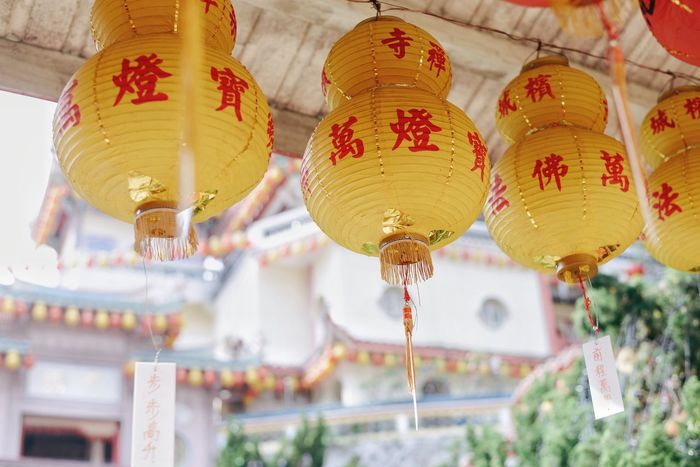 Kek Lok Si Temple Chinese Buddhist Temple Buddhism Hanging Cultures Low Angle View Chinese Lantern Lantern Lighting Equipment Religion