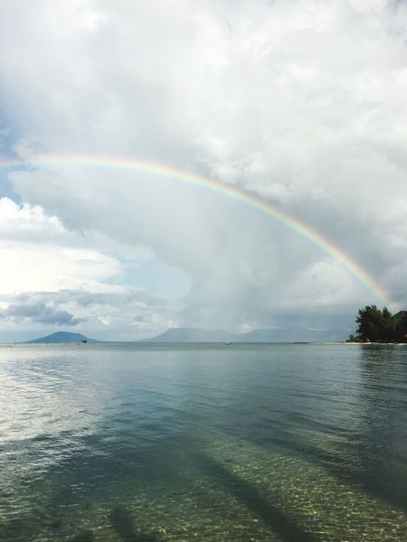 Rainbow Paradise Beach Sun Water Beauty In Nature Horizon Over Water Cloud Majestic Sea Vietnam Phu Quoc
