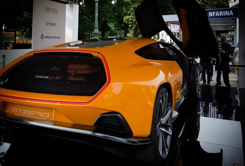 ITALDESIGN - GTZERO Car Cars City City Life Close-up Day Focus On Foreground Gtzero Italdesign ITALDESIGN - GTZERO Italia Italy Land Vehicle Mode Of Transport No People Orange Color Outdoors Part Of Stationary Supercar Torino Transportation Turin Yellow