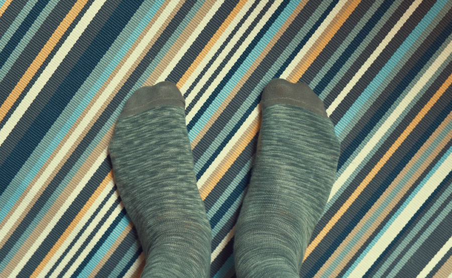 Green feet on Stripes Body Part Close-up Day Feet Feetselfie Full Frame High Angle View Human Body Part Human Foot Human Leg Human Limb Indoors  Low Section One Person Pattern Personal Perspective Real People Sock Socks Standing Striped Textile