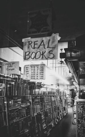 Bookstore. The real deal. Night No People City Shadow And Light Books. Text Window Shopping Closed After Hours hidden treasures H*dden History Treasures Of The Past