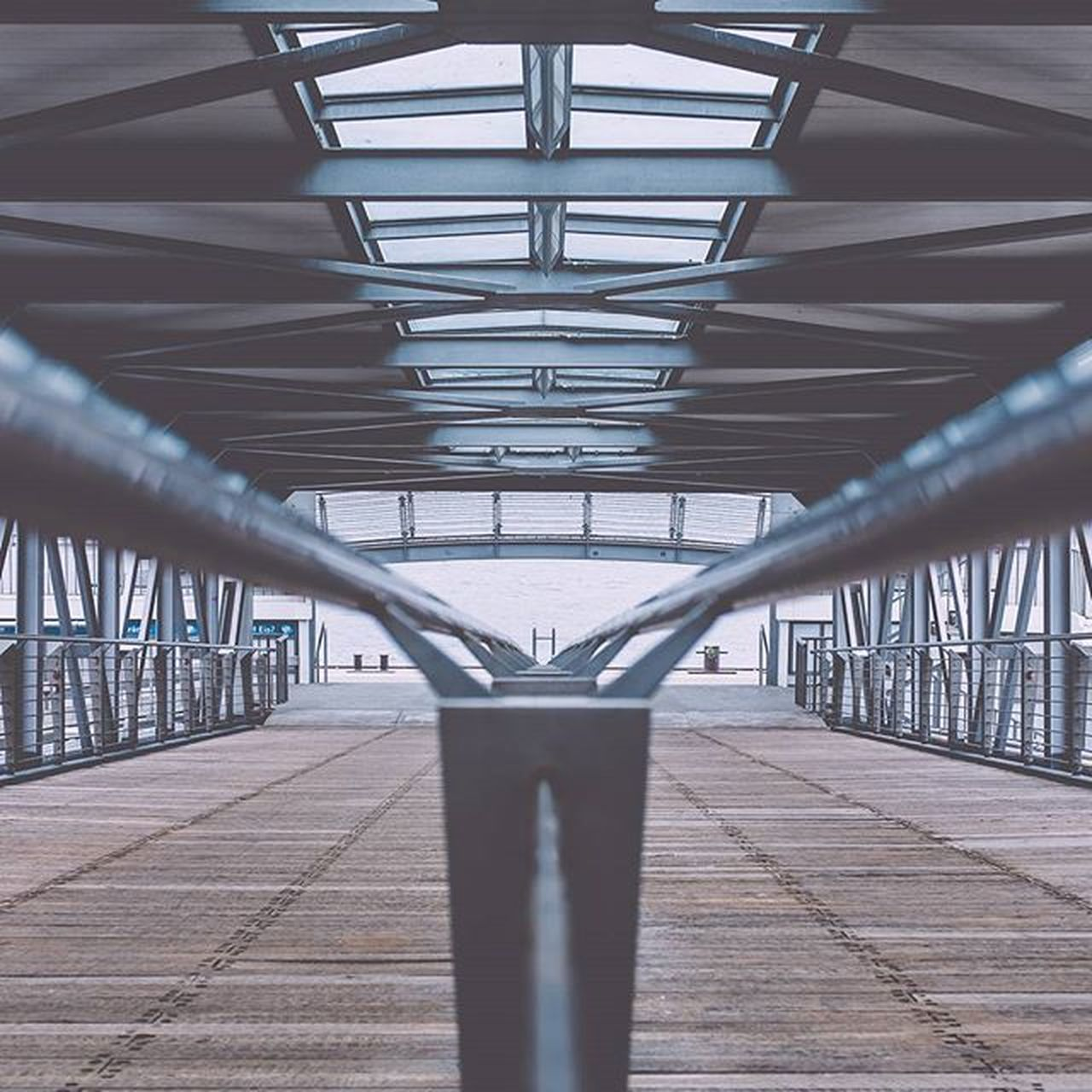 bridge - man made structure, metal, architecture, built structure, no people, architectural column, steel, indoors, day, city