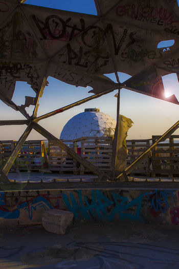 Abandoned Berlin: Teufelsberg, the Devil's Mountain. Tramonto a Teufeslberg, la Montagna del Diavolo. ©GIULIA FILIPPI PHOTOGRAPHY. All rights reserved. Abandoned Places Architecture Berlin Colors Graffiti Wood Abandoned Abandoned Buildings Building Exterior Built Structure Canon Forest Germany Light And Shadow Mountain Old Outdoors Photographer Photography Photooftheday Sky Streetart Sun Sunset Wild