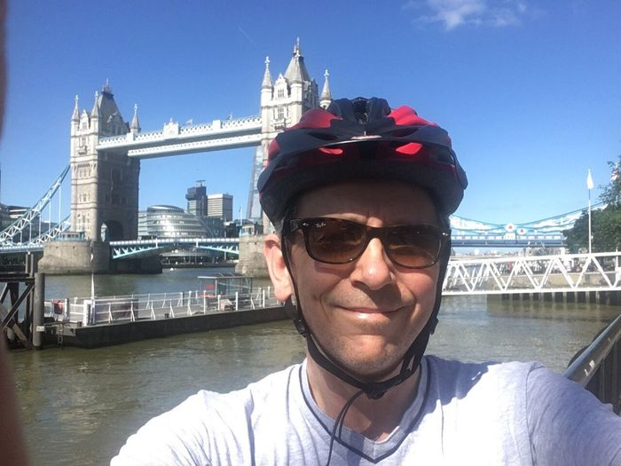 Two Bridges - my personal challenge today to cycle between Tower Bridge  and the Queen Elizabeth Bridge at Dartford. ThatsMe