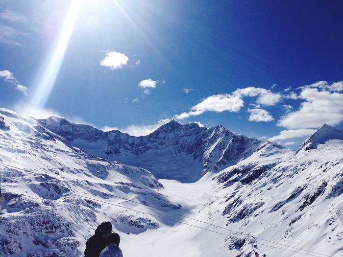 Sun Snow Glacier Glaciernationalpark