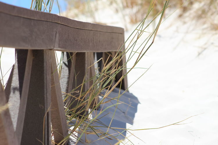 Buried In Sand Low Angle View Outdoors Railings Sand Sand & Sea Sand Dune Sky