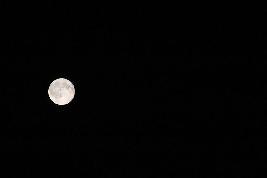 Astrology Astronomy Beauty In Nature Black Background Circle Clear Sky Copy Space Dark Full Moon Geometric Shape Low Angle View Moon Moonlight Nature Night No People Planetary Moon Scenics - Nature Shape Sky Space Space And Astronomy Tranquil Scene Tranquility