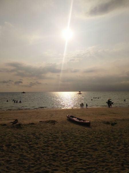 Sunset Scenic View Sunset Silhouettes Photography Hope Happiness Glan Saranggani General Santos City, Philippines Horizon Over Water Beach Nature AI Now Adventures In The City