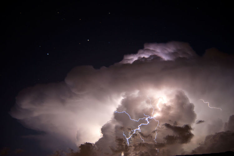 Australia Beauty In Nature Brisbane Cloud Forked Lightning Lightning Night Power In Nature Queensland Queensland Australia Sky Star - Space Stars Storm Thunderstorm