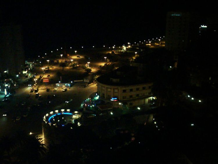 Castle of Durres seen from the 15th floor at night, Durres Albania Night Illuminated Architecture Building Exterior Built Structure City Cityscape No People Outdoors Sky