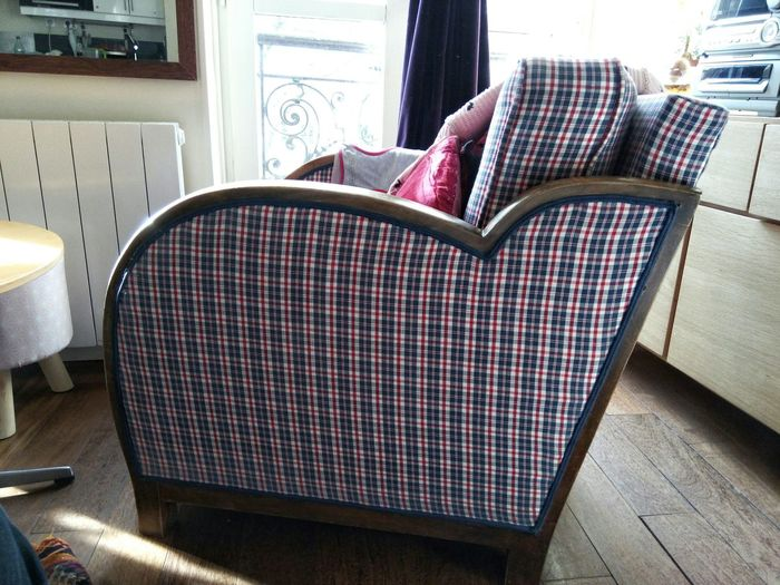 Parisian Chic Saint Germain Des Pres Interior Design Interior Views Armchair Tartan Checkered Home Is Where The Art Is Interior Style Lieblingsteil