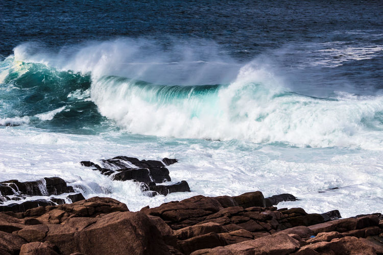 WIND Atlantic Ocean Newfoundland Aquatic Sport Beach Beauty In Nature Beauty In Nature Breaking Canada Hitting Land Nature Outdoors Power Power In Nature Rock Rock - Object Rock Formation Scenics - Nature Sea Solid Sport Surfing Water Wave Waves