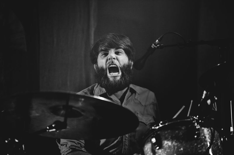Frightened Rabbit live in London Mouth Open Drummer Musician Music Photography  Concert Concert Photography Music