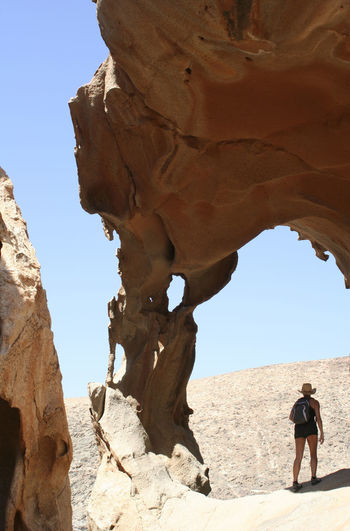 People on rock formations