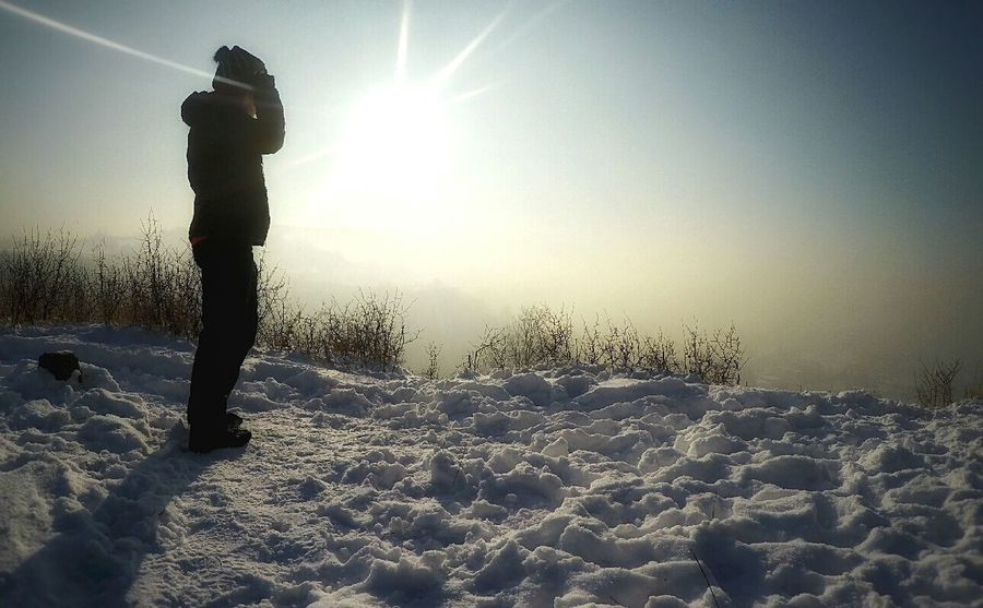 One Person Outdoors Beskidżywiecki Snow Day ❄ Snow ❄ Beauty In Nature Cold Temperature Snow Winter Goprophotography Goprohero4 Gopro Gopro Shots Frozen