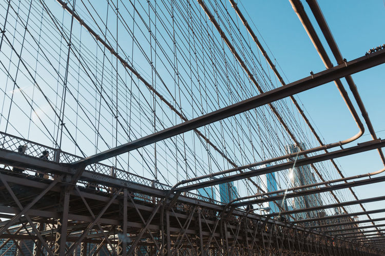 Architecture New York New York City VSCO Architecture Bridge - Man Made Structure Built Structure City Day Girder Low Angle View Metal No People Outdoors Pattern Sky Vscocam Vsvocam