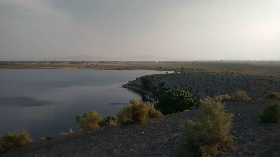 Soda Lake, list in the landscape.