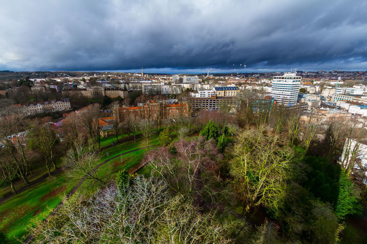 Townscape from cabot tower, Bristol, United Kingdom Bristol Architecture Building Building Exterior Built Structure City Cityscape Cloud - Sky Day Growth High Angle View Nature No People Outdoors Overcast Plant Residential District Sky Town TOWNSCAPE Tree University Of Bristol