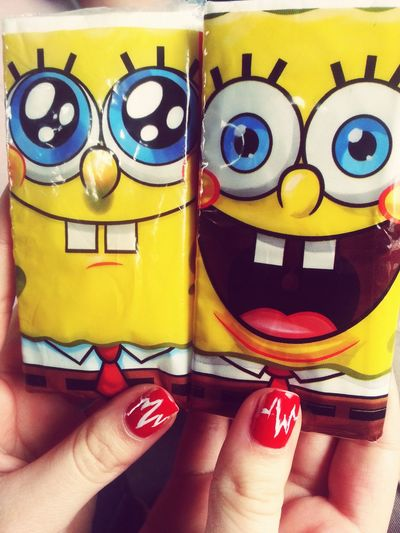 Spongebob and my friends' nails♥ Spongebob Funny Hi! Taking Photos Enjoying Life Check This Out Hello World Adorable Vintage Love