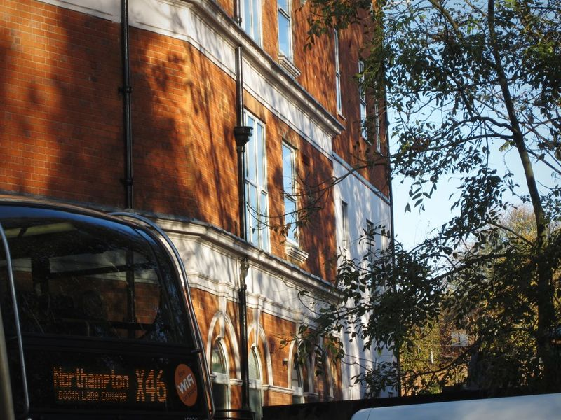 """connections"" x46 bus to Northampton! Built Structure Architecture Day Sky Autum 2016 Transport Bus Sunshine Pattern Shadows On The Wall Outdoors Tree Nature Is Art Branch Beauty In Nature Growth Abstract Urban Stagecoach Buses Transportation"