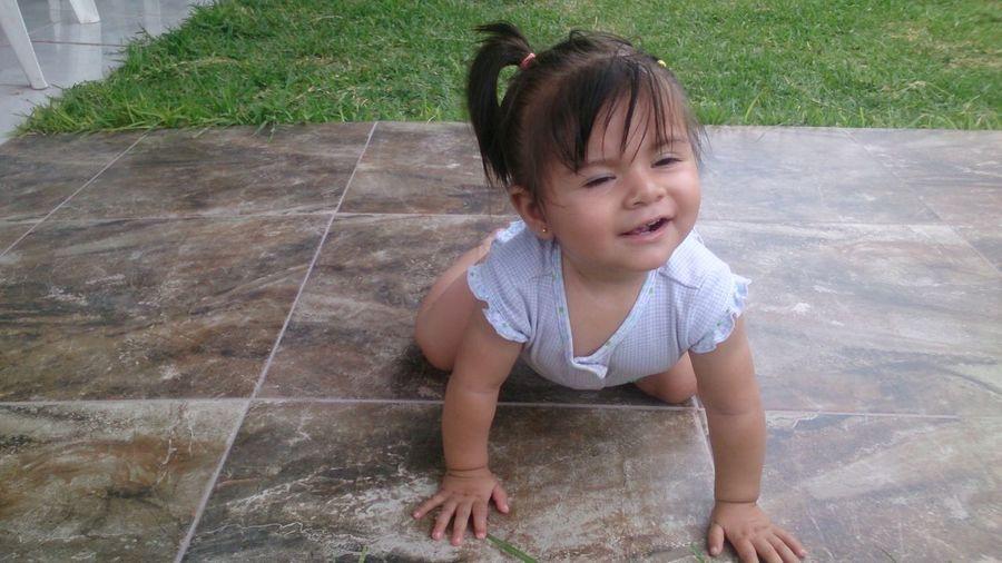 Baby Girl On Floor