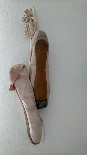 High angle view of shoes hanging on floor